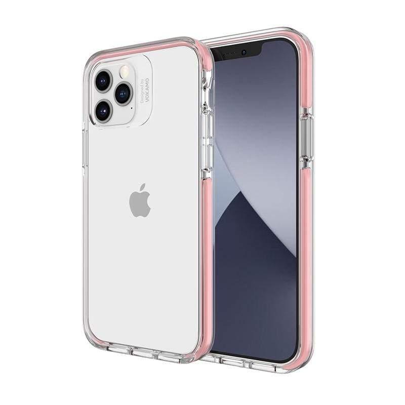 Smult 美國軍規3.05米晶透強化背蓋抗菌塗層防摔手機殼 Apple iPhone 12 Pro Max (6.7吋)專用-防摔衣原料邊條(3色可選) iPhone 12 Pro Max (6.7