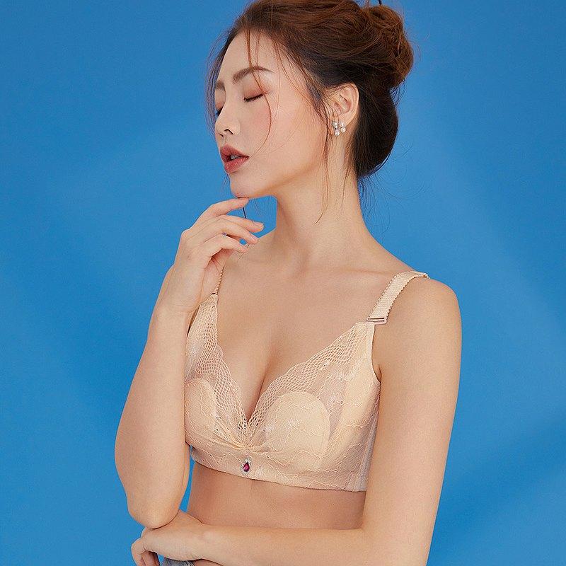 【Olivia】無鋼圈加大碼透氣柔棉內衣
