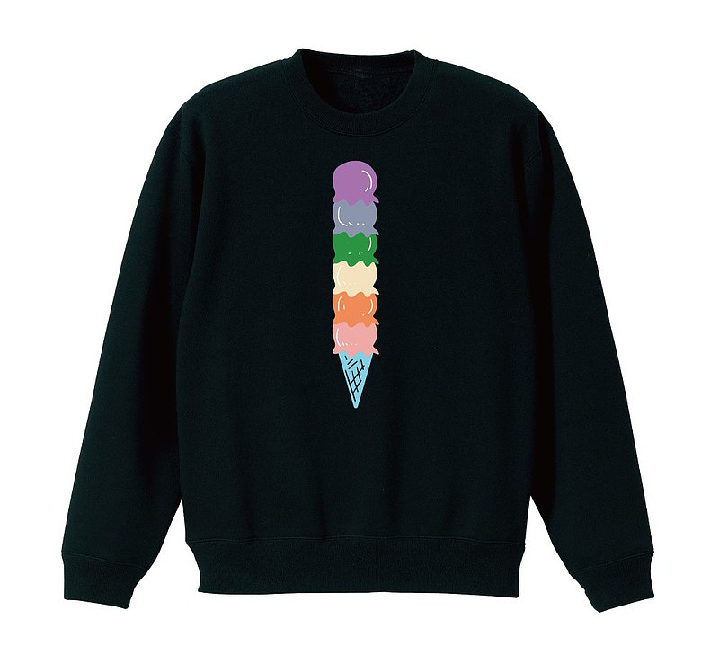 【彩虹冰淇淋】加絨大學棉TEE 五個尺寸