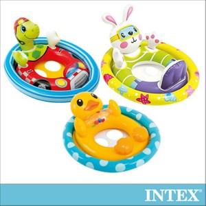 INTEX 造型幼兒坐式充氣泳圈-3款造型可選(59570)鴨子
