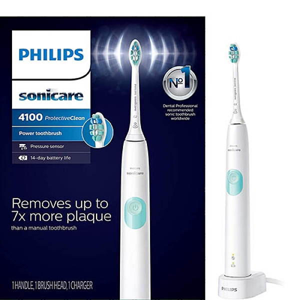 Philips【美國代購】飛利浦 電動牙刷 Sonicare ProtectiveClean4100HX6817/01 - 白色
