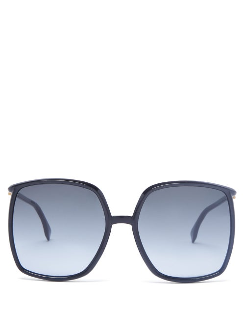 Fendi - Oversized Square Acetate Sunglasses - Womens - Black