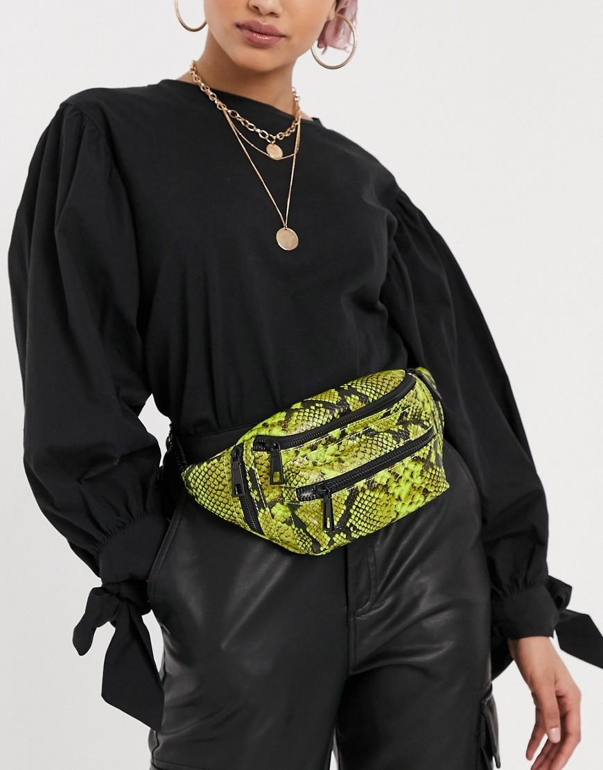 Aldo Faux Leather Bumbag-Black