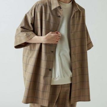 Lui's - 復古格紋寬版襯衫