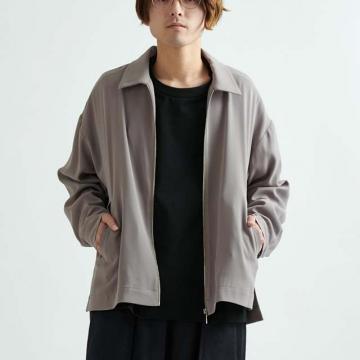 Lui's - 襯衫領拉鍊開襟外套