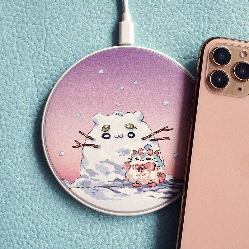 倉鼠妹妹的雪人- 無線充電器 Qi Wireless Charger