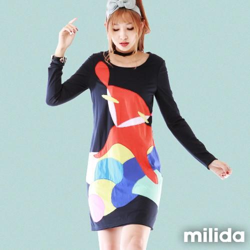 milida 可愛狐狸顯瘦洋裝 MMRYEA024