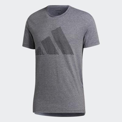 adidas 上衣 短袖上衣 運動 慢跑 健身 男款 灰 GR7070