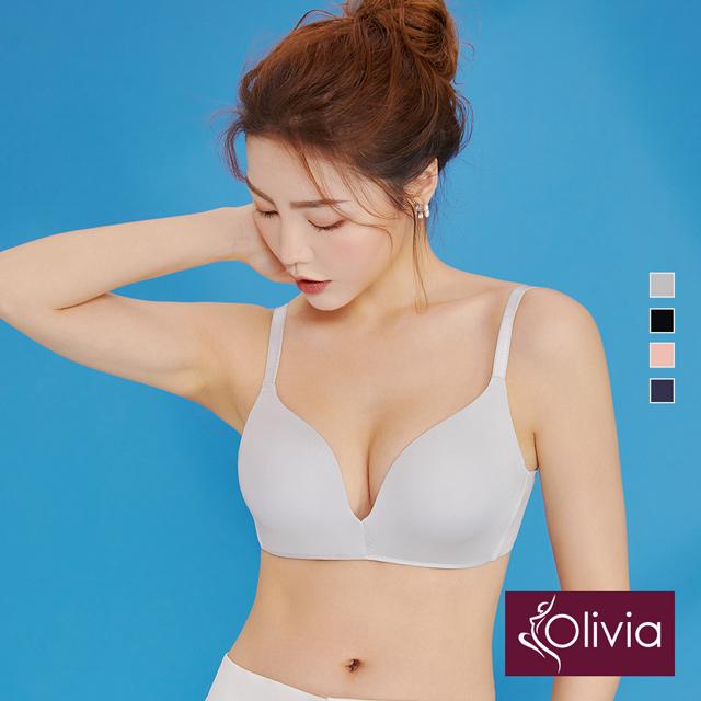 【Olivia】無鋼圈無痕素色舒適輕內衣(灰色)