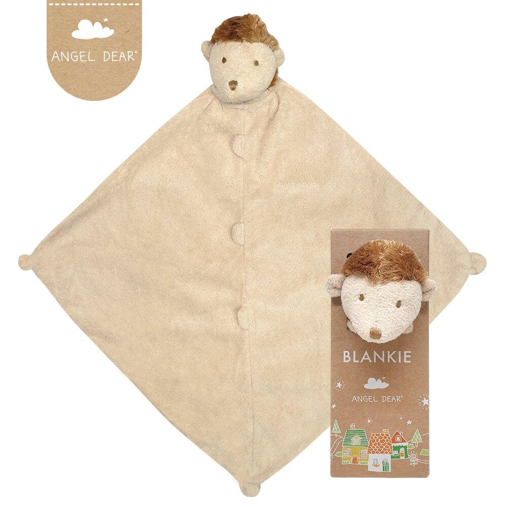 美國 Angel Dear 動物嬰兒安撫巾單入禮盒 (小刺蝟)