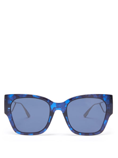 Dior - 30montaigne1 Square Acetate And Metal Sunglasses - Womens - Blue