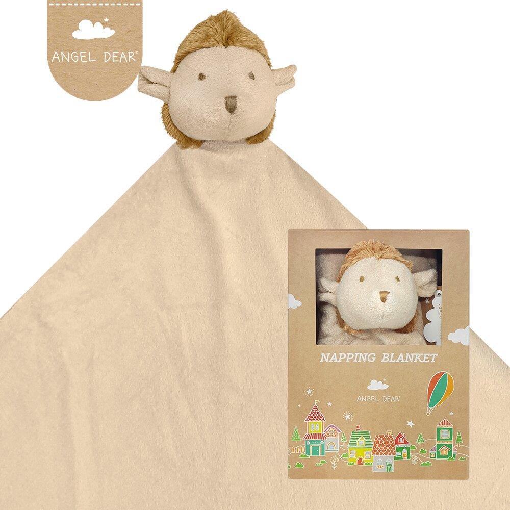 美國 Angel Dear 大頭動物嬰兒安撫毛毯禮盒 (小刺蝟)