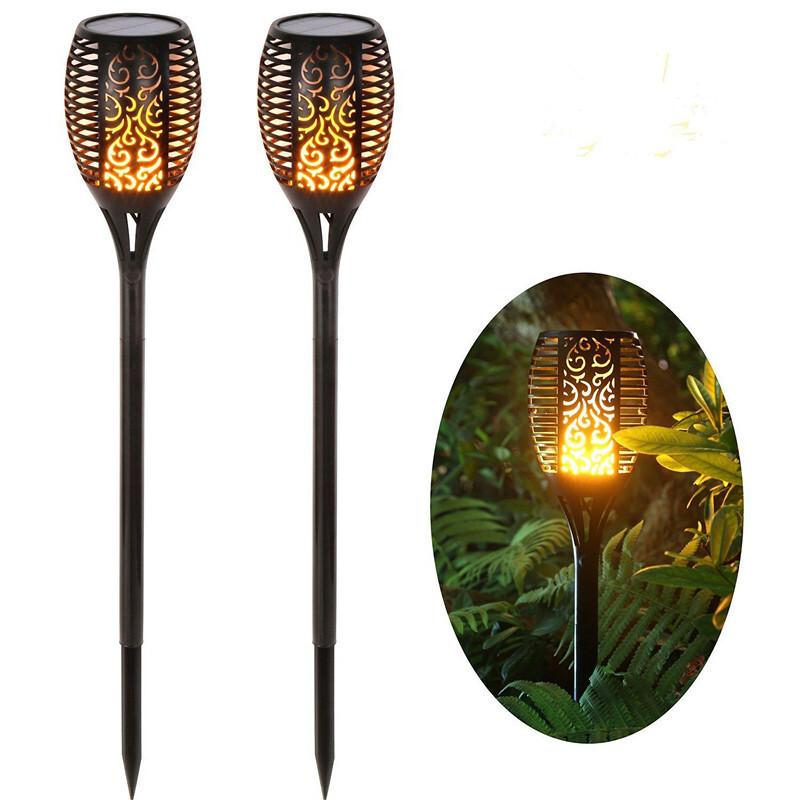 33顆led 太陽能充電 太陽能造景燈 太陽能景觀燈 太陽能草皮燈 太陽能火把燈太陽能火焰燈
