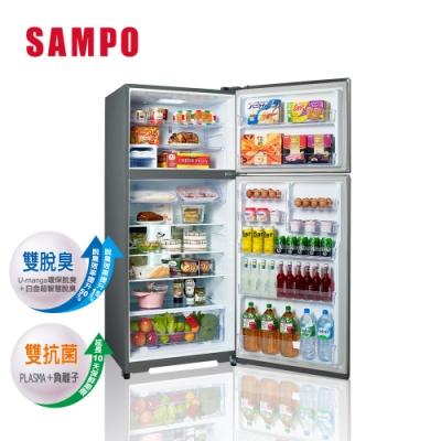 福利品-SAMPO聲寶 580公升雙門變頻冰箱 SR-B58D(K3) 漸層銀