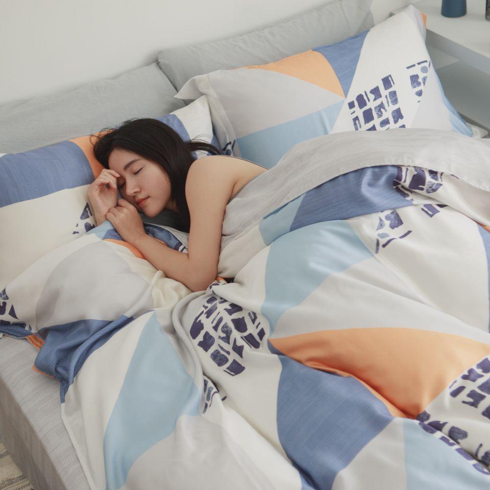 【港澳限定】床包被套組(薄被套)-加大 / 100% TENCEL天絲™萊賽爾纖維 /晚風