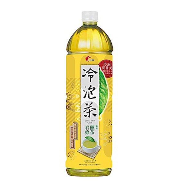 光泉 冷泡茶 春釀綠茶 微甜 585ml (4入)/組【康鄰超市】