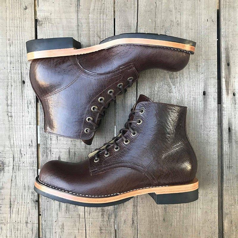 WHC.Classic × Osland聯名款 手縫美式靴×咖啡色