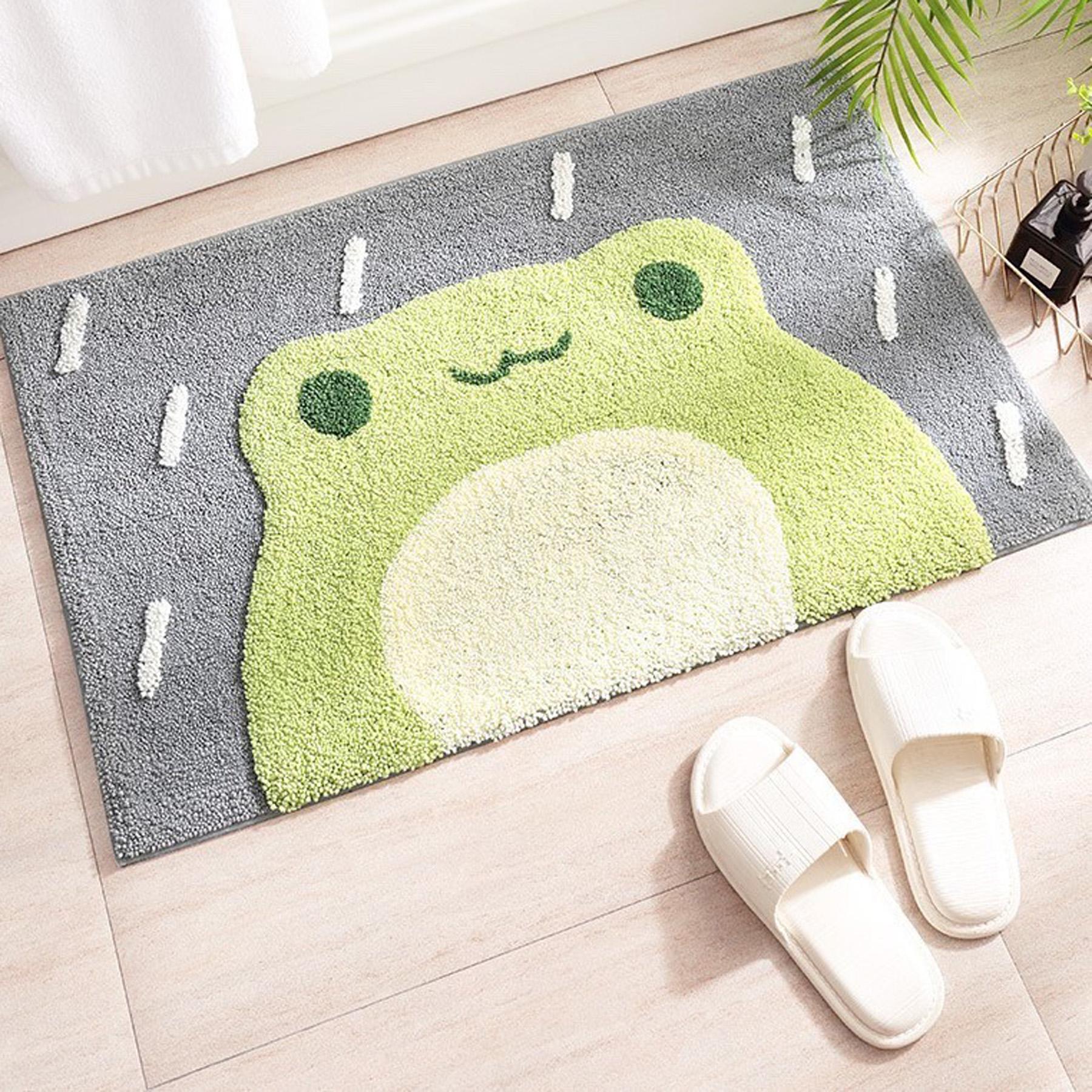 青蛙造型地墊 約45cmX65cm±1cm棉床本舖】
