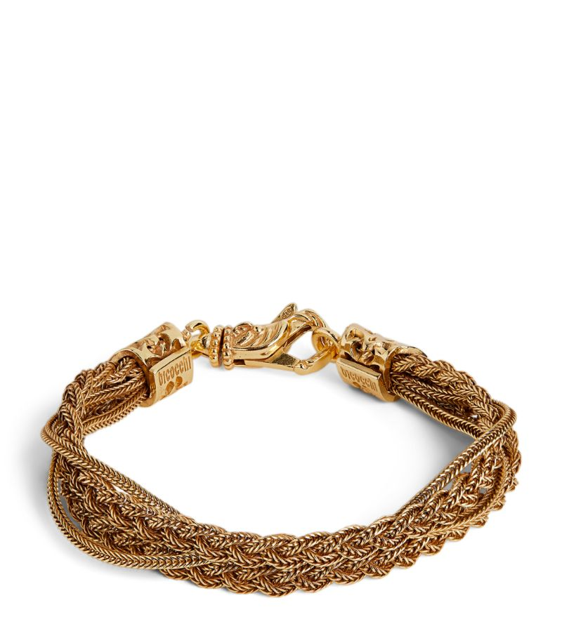 Emanuele Bicocchi Gold-Plated Braided Chain Bracelet