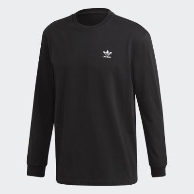 adidas 長袖上衣 運動 健身 慢跑 男款 黑 GE0859