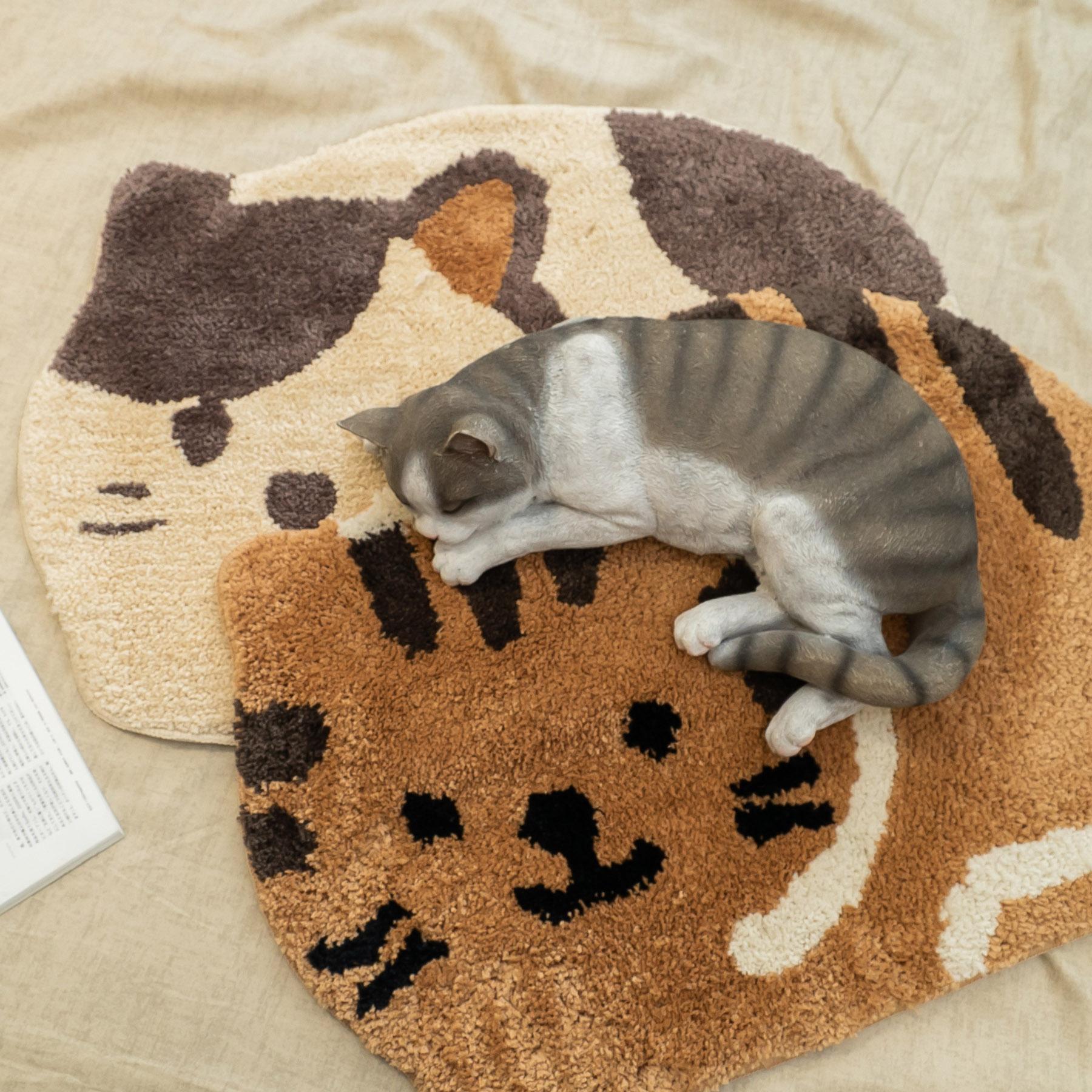 喵喵貓造型地墊 約45cmX65cm【棉床本舖】
