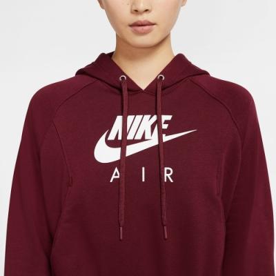 NIKE  連帽上衣 運動 慢跑 健身 女款 紅 CU6562638 AS W NSW AIR HOODIE FLC
