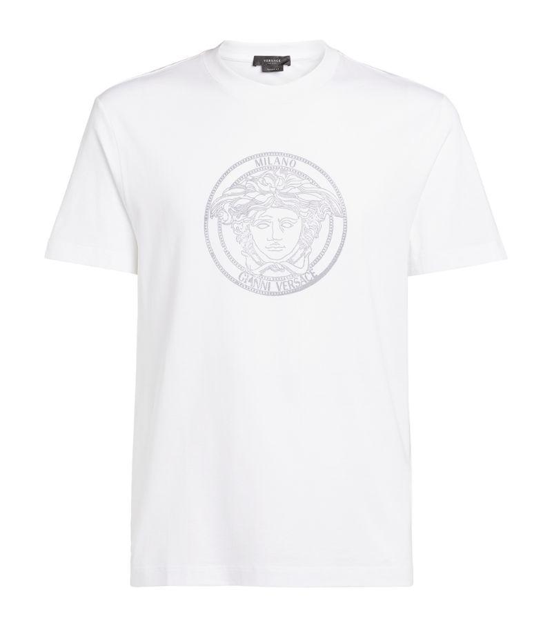 Versace Medusa Logo-Embossed T-Shirt