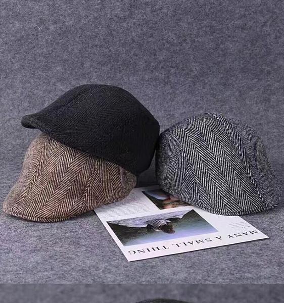 毛呢禮帽男士帽子爸爸秋冬保暖中老年人爵士帽冬天老人帽子紳士帽 快速出貨