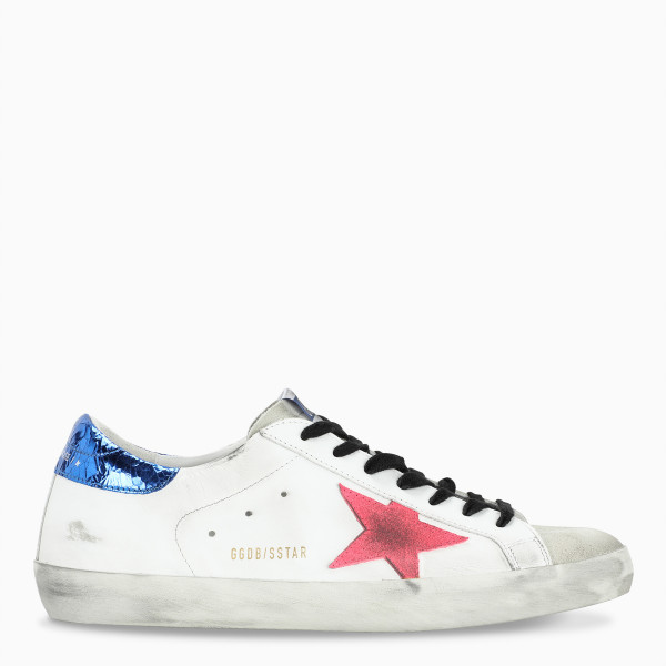 Golden Goose White/red/platinum Superstar sneakers