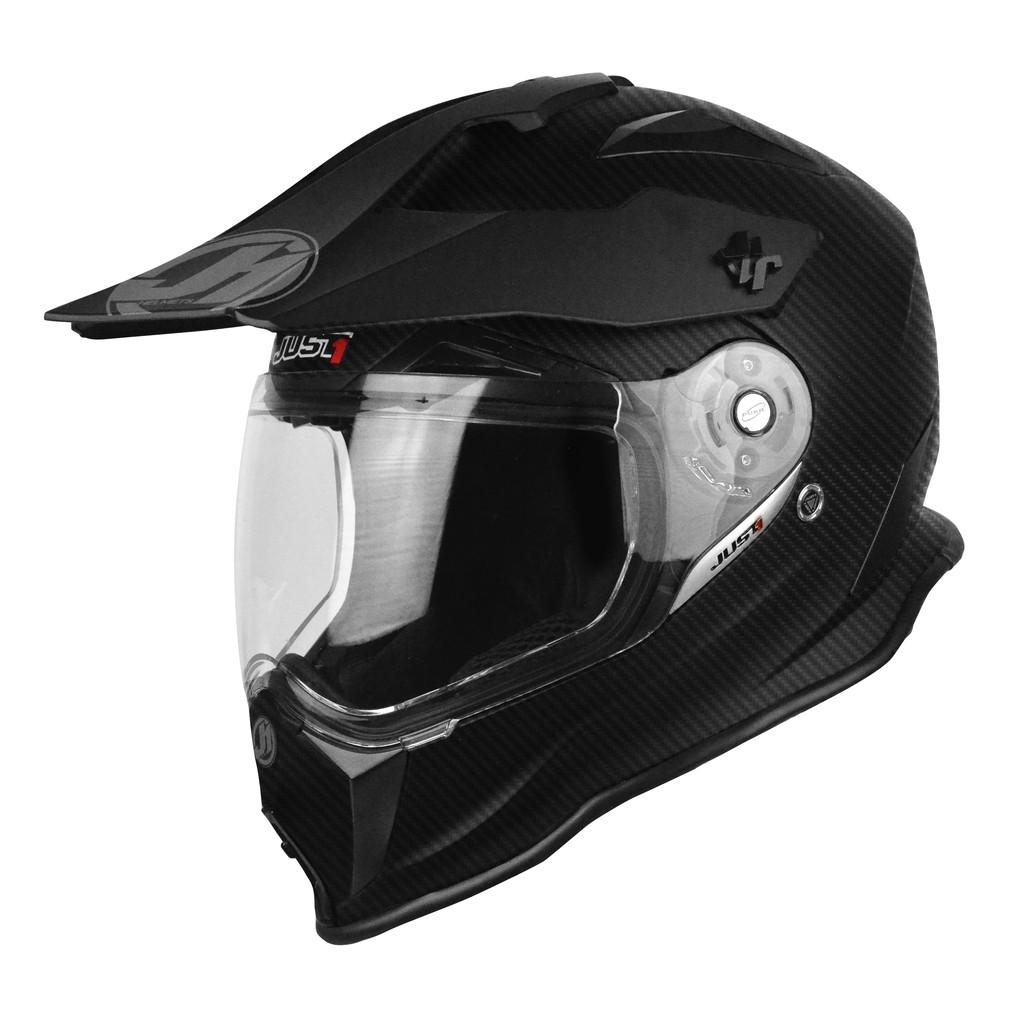 【Just1】J14 全碳纖維 頂級 多功能越野帽 鳥帽 輕量透氣 內襯全可拆 快脫 KTM 消光黑