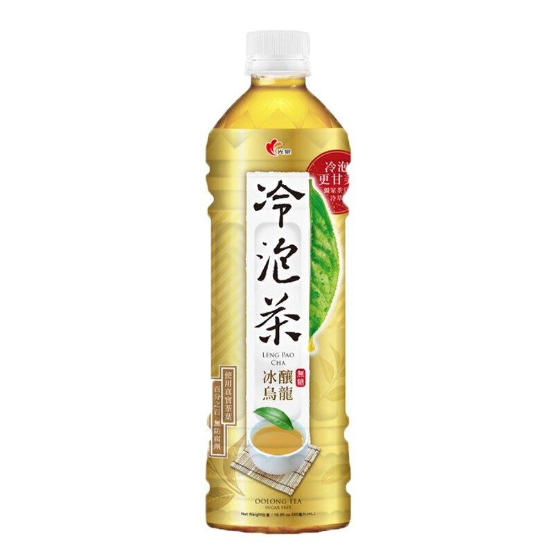 光泉 冷泡茶 冰釀烏龍 無糖 585ml【康鄰超市】