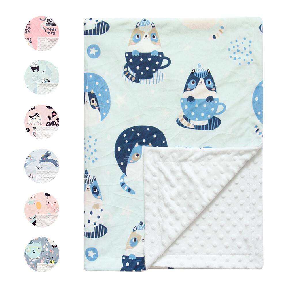 泡泡毯包巾嬰兒被 雙層柔膚安撫毯-lt2250