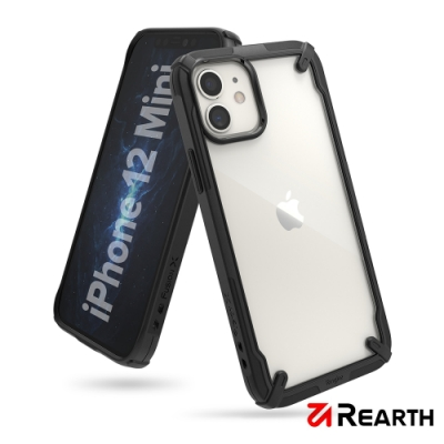 Rearth Apple iPhone 12 mini (Ringke Fusion X) 高質感保護殼(黑)