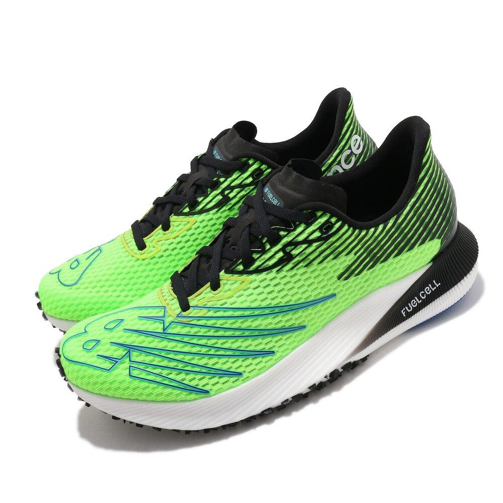 NEW BALANCE 慢跑鞋 FuelCell RC Elite 男鞋 紐巴倫 輕量 透氣 舒適 避震 路跑 綠 黑 [MRCELYBD]