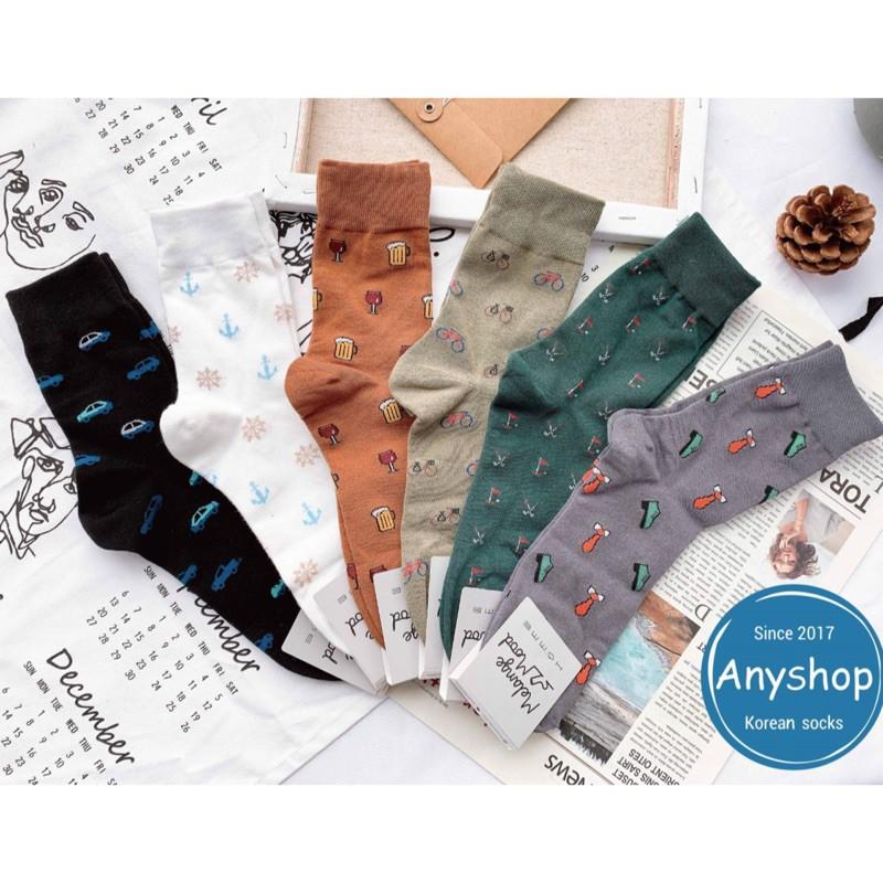 韓國襪-[Anyshop]男士小圖滿版長襪