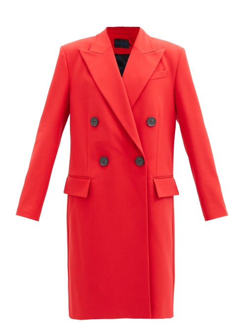 Proenza Schouler - Double-breasted Twill Coat - Womens - Red