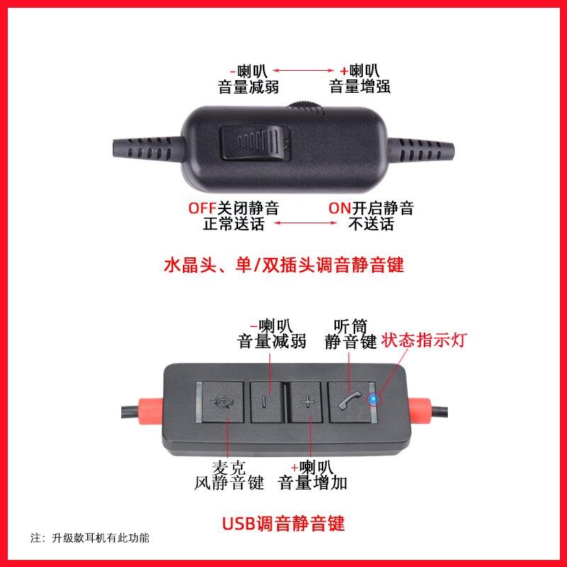 杭普 VT200電話耳機話務員專用耳機 客服耳麥頭戴式 座機電腦電銷 領券下定更優惠