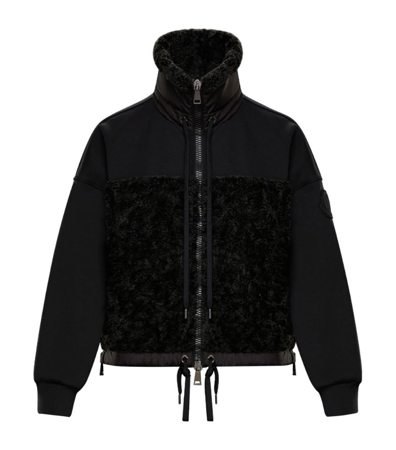 Moncler Faux Shearling-Trimmed Cardigan