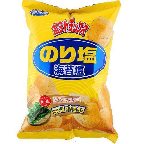 湖池屋海苔鹽洋芋片78g【愛買】