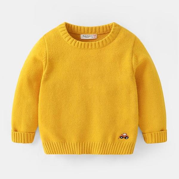 男童毛衣加絨針織衫套頭秋冬冬裝童裝寶寶1歲3兒童小童潮冬季加厚【新年特惠】