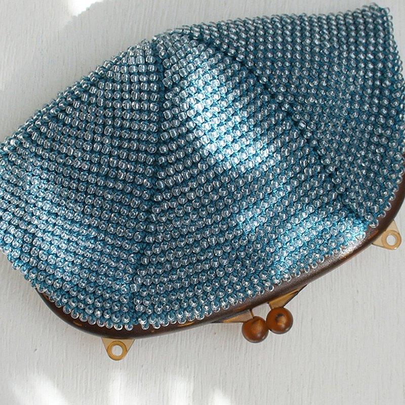 BA-BA手工串珠鉤針編織小手提袋No.1327