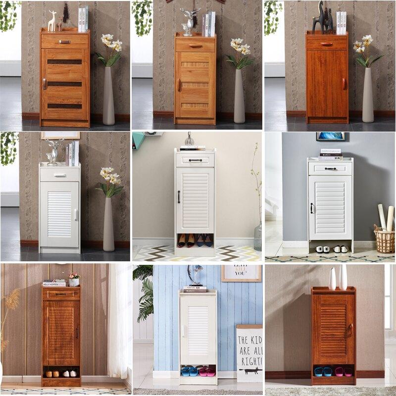 進小鞋櫃櫃單門小戶型迷你窄款實木色 雙十一