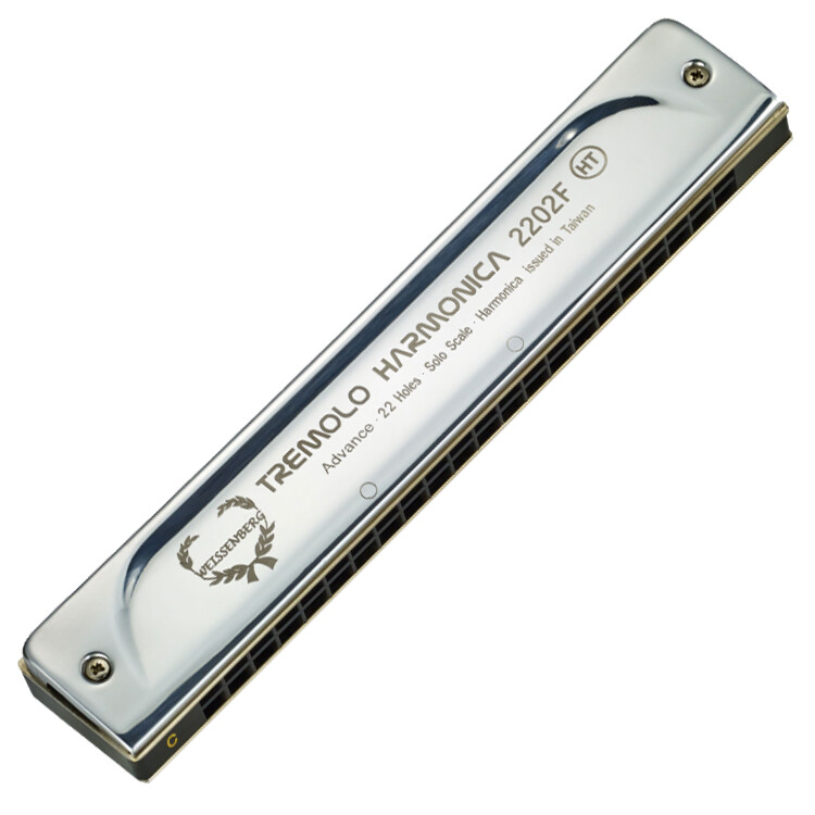 weissenberg 高級款2202f-22孔顫音口琴/真空鍍鈦蓋板