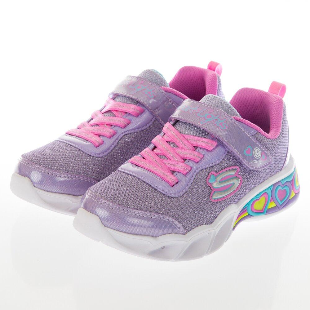 SKECHERS 女童系列 SWEET HEART LIGHTS 燈鞋 - 302304LLVMT