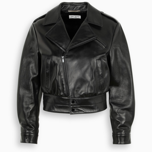 Saint Laurent Black biker leather jacket