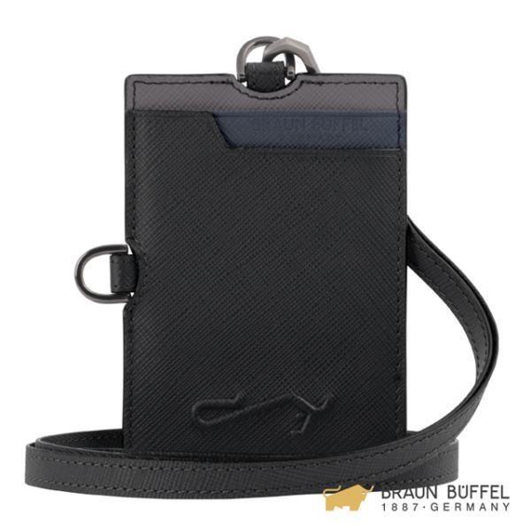 BRAUN BUFFEL 大富翁系列證件夾 -黑色 BF350-170-BK
