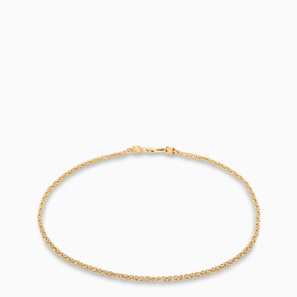 Emanuele Bicocchi Gold pleated Byzantine bracelet
