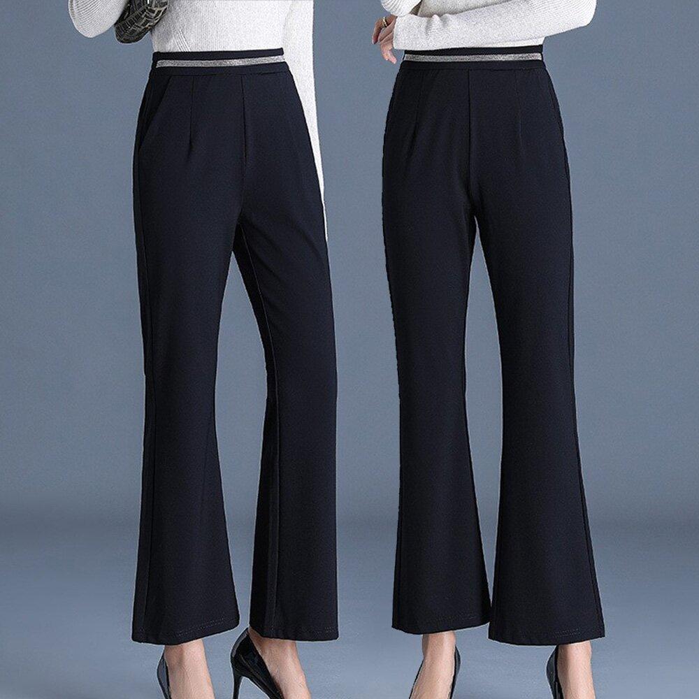 【麗質達人】OM11661黑色百搭褲(L-5XL)