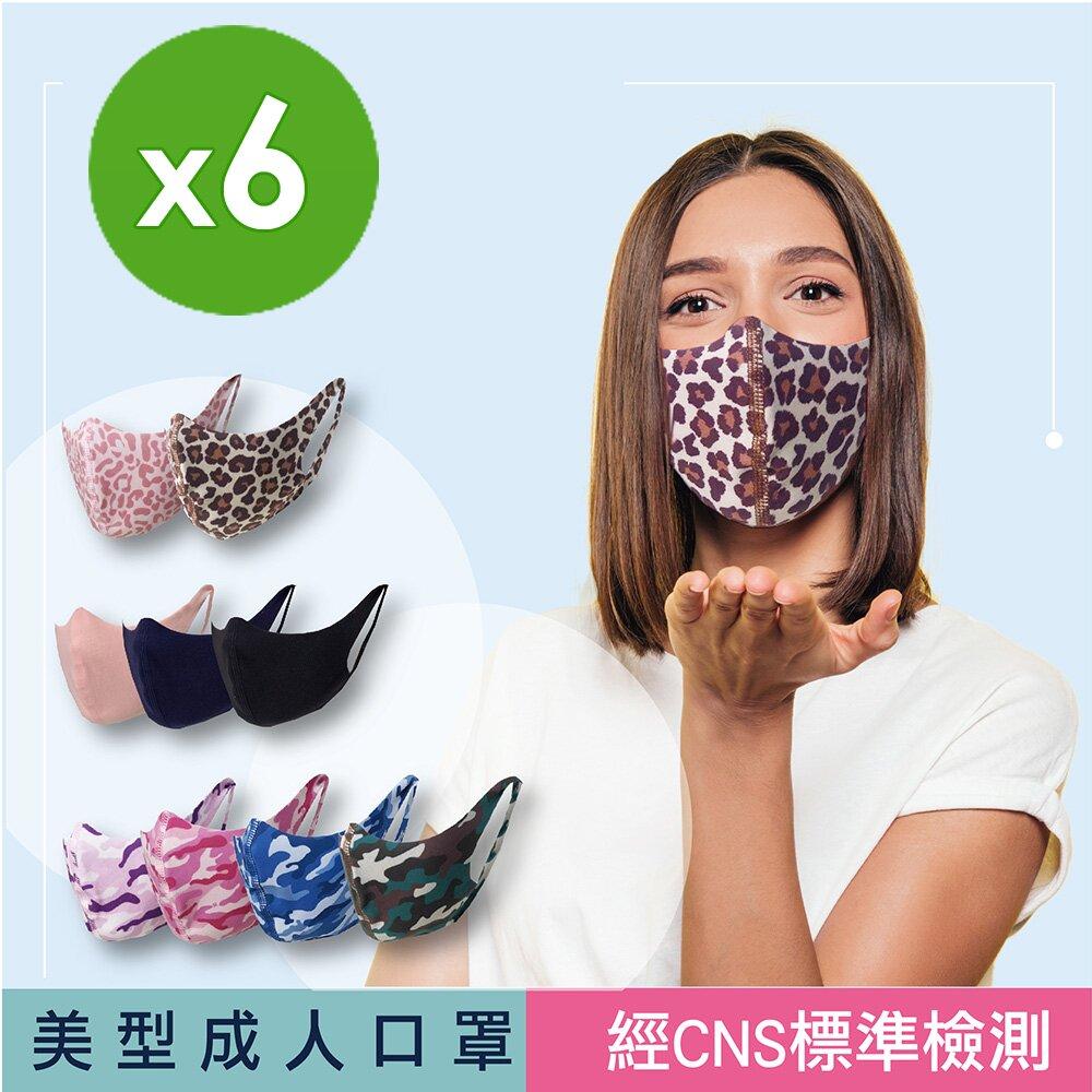 【SK四季口罩】成人口罩-台灣製/機能面料/可水洗重複使用/經CNS標準檢測(6包/共12片)
