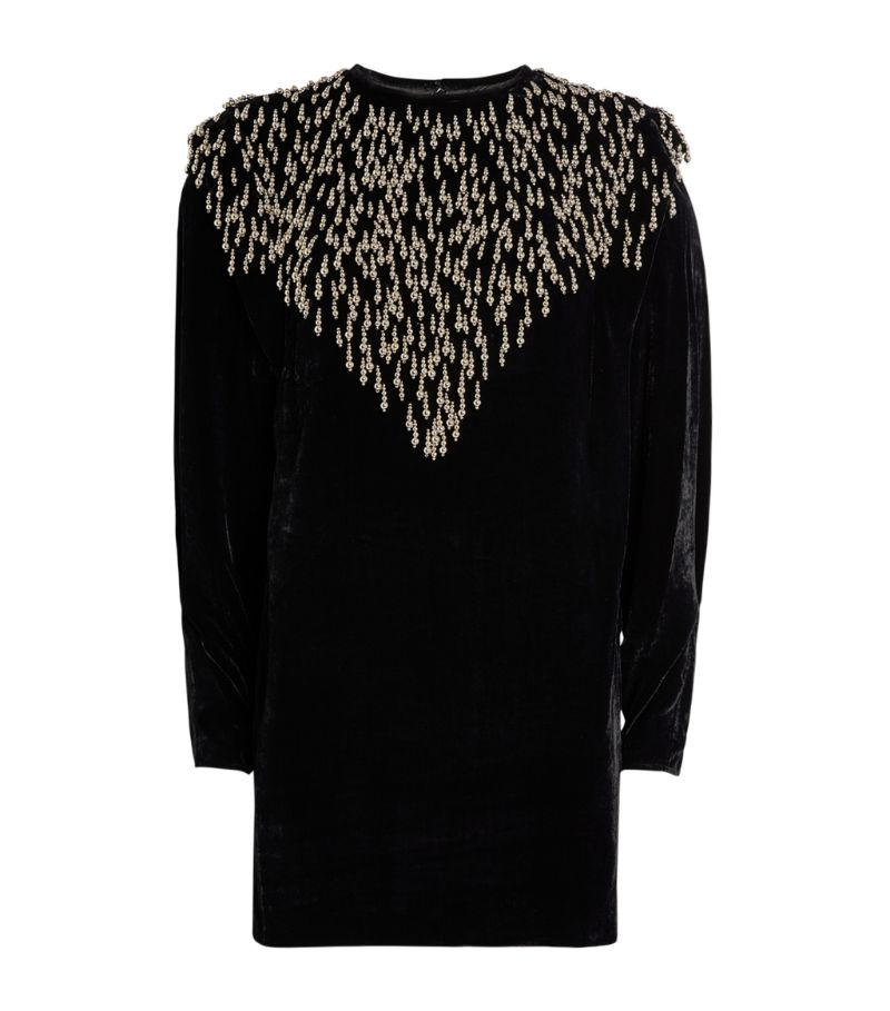 Isabel Marant Embellished Gabasi Mini Dress